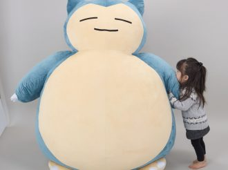 "1.5m size cushion of Pokemon ""Kabigon (Snorlax)"" appears!"