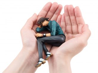 """Kotetsu of """"TIGER & BUNNY"""" Figure Relaxes in Your Hands"""