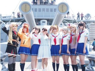 """High School Fleet"" Ending Theme Song Singer Luna Haruna Relished Delicious Curry At Yokosuka Curry Festival"