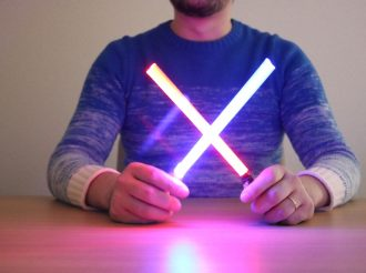 May the Force Be at Your Dining Table With These Lightsaber Chopsticks