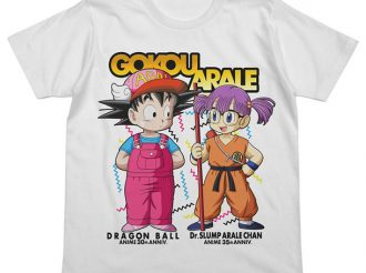 Arale & Goku Exchange Uniforms in Dr. Slump and Dragon Ball Collaboration!