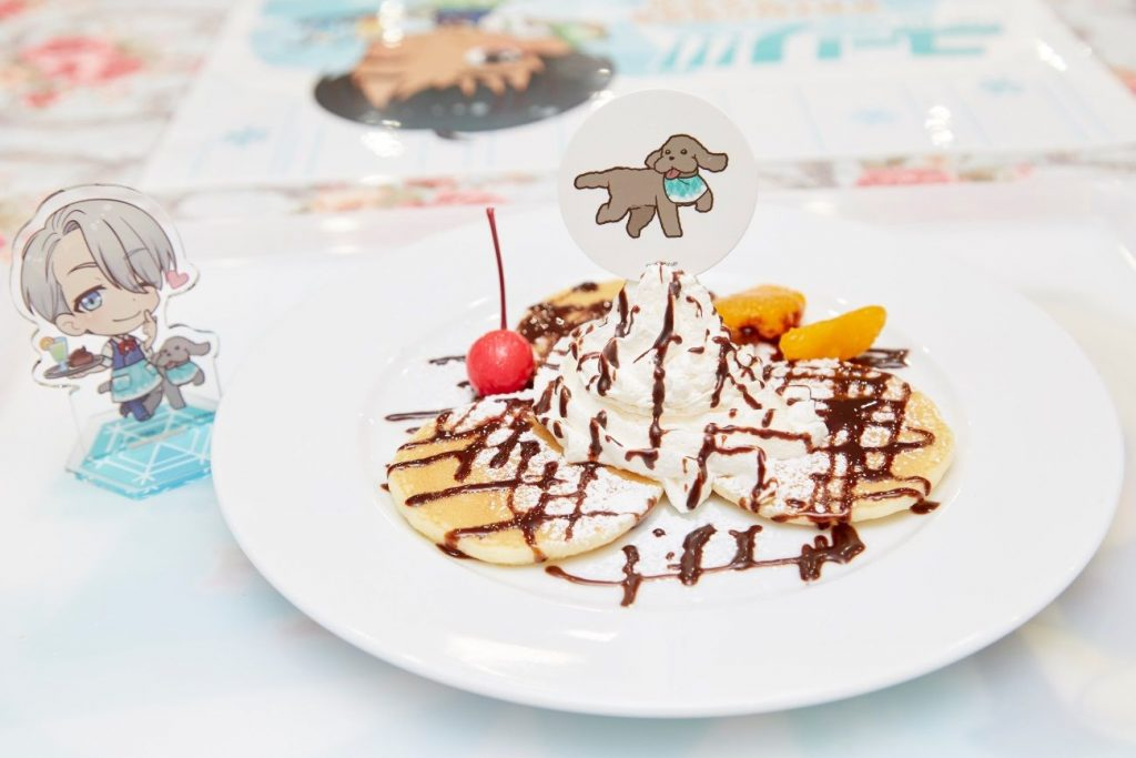 Yuri!!! on ICE Collaboration Themed Cafe | MANGA.TOKYO Photo Report | Makkachin no Mofumofu Pancakes (Makkachin's super-soft pancakes)