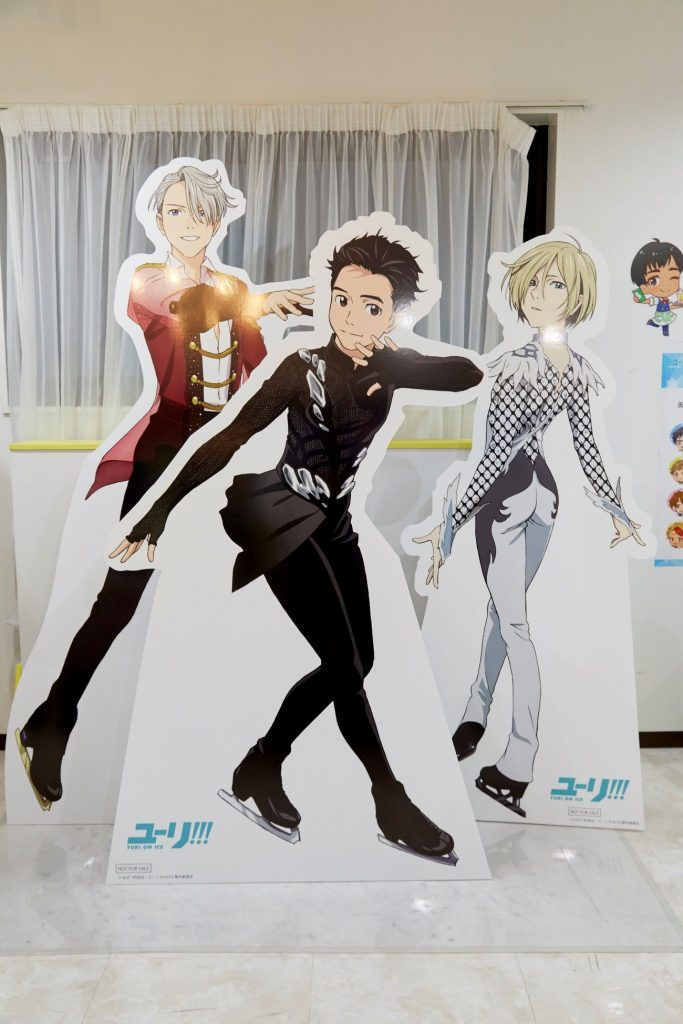 Yuri!!! on ICE Collaboration Café | MANGA.TOKYO Photo Report | Cardboard Cutout