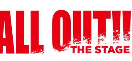 Logo for the musical ALL OUT!! THE STAGE