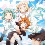 The limited-edition CD cover of Demi-chan wa Kataritai opening theme