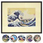 Doraemon's Ukiyo-e Woodcut 'Thirty-six Views of Mount Fuji: The Great Wave Off Kanagawa'