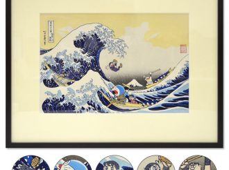 Doraemon Ukiyo-e Project Part 3 is Hokusai's The Great Wave!