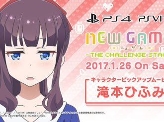 Hifumi Speaks Cat in NEW GAME!'s Game Character Video