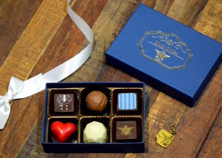 Chocolates based on the anime movie 'Black Butler: Book of the Atlantic' (with Charm)