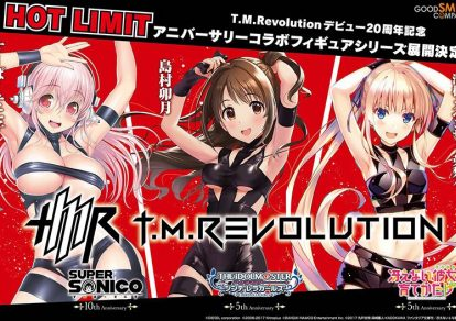 Figures of Sonico and Idolmaster's Uzuki Shimamura in TMR's Hot Limit Costume