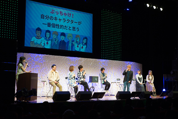 The cast of Mob Psycho 100 anime at the special event 'Psycho Helmet Cult Gathering'