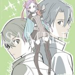 Sword Art Online The Movie: Ordinal Scale character portraits drawn by character designer, Shingo Adachi | Kirito and Yuna