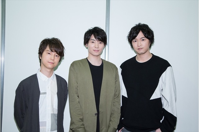 Ryouta Ohsaka, Kengo Kawanishi, and Nobunaga Shimazaki, at the Kabukibu event at AnimeJapan 2017