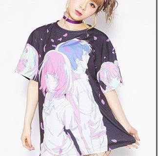 Kuzu no Honkai (Scum's Wish) anime and apparel brand galaxxxy special collaboration t-shirts