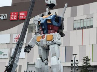 Disassembly of the Life-sized Gundam in Odaiba