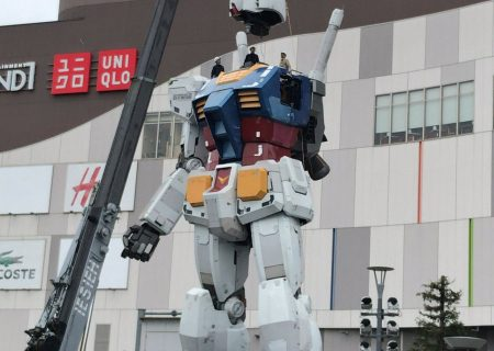 Disassembly of Odaiba's Life-sized Gundam statue