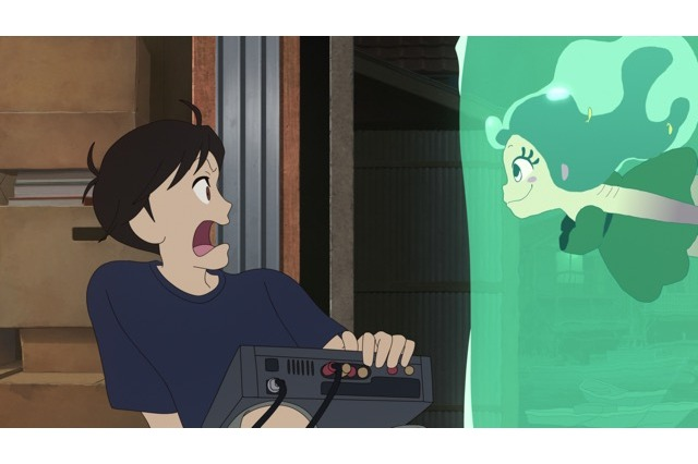 Screenshot from anime movie Lu over the Wall
