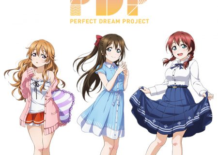 Bushimo's 'Love Live! School Idol Festival' Perfect Dream Project's New School Idols | (from left to right: Kanata Konoe, Shizuku Osaka and Emma)