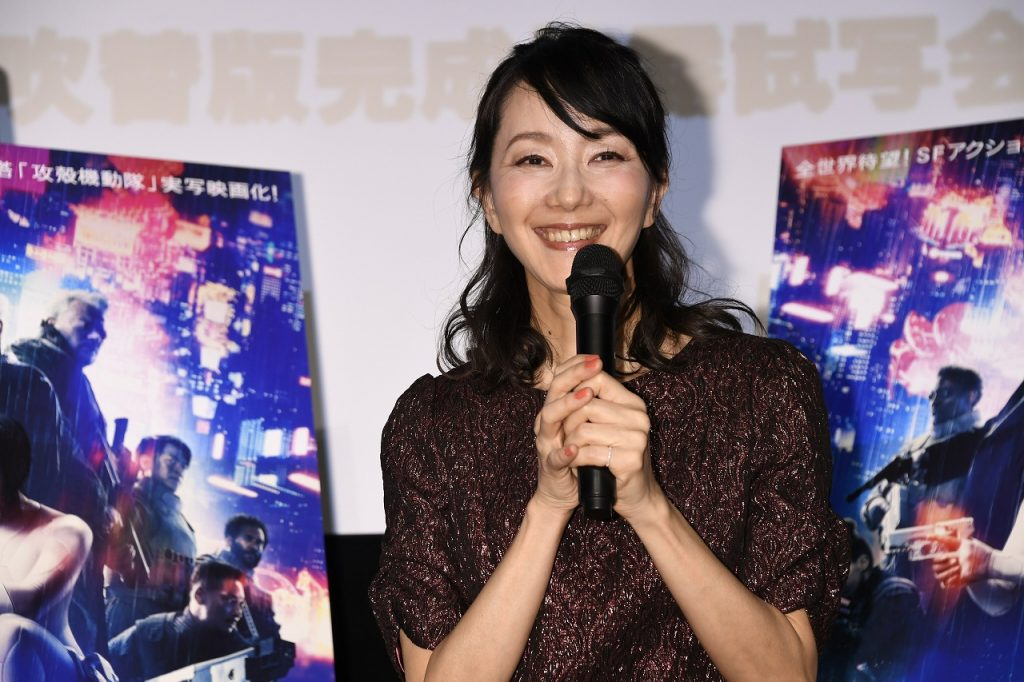 Atsuko Tanaka, the Japanese voice of Major in the Japanese-dubbed Ghost in the Shell live-action movie!