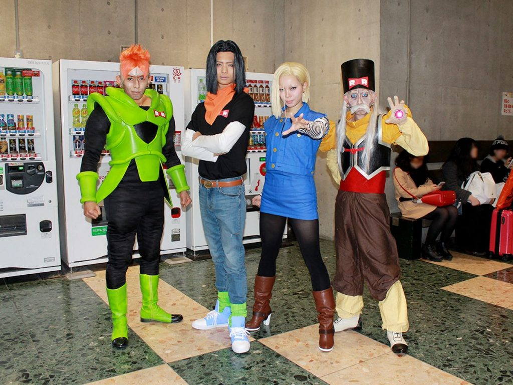 "Amazing Cosplay from AnimeJapan 2017 | ""Dragon Ball"" Amuro-san @amuroray1104:Android 16 / mizuki-san @datetosuikyou36:Android 17 / Sekka-san @okl_37:Android 18 / KICK-san @kickman1129:Doctor Gero (Android 20)"