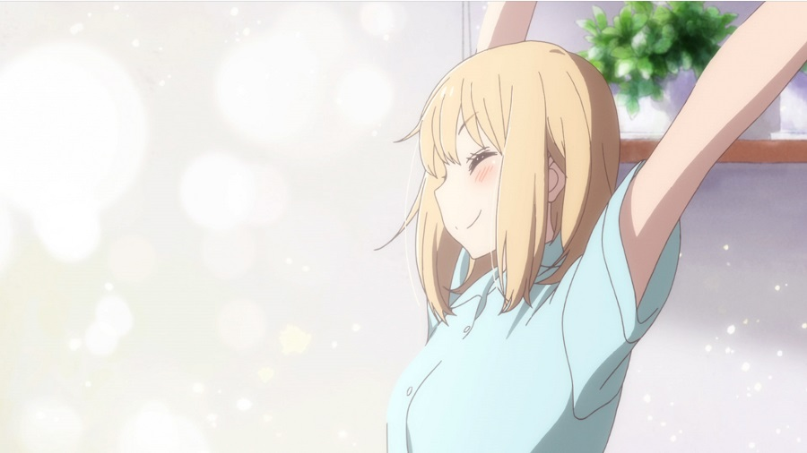 Screenshots from the special animation clip Kimi no Hikari is based on Hiromi Takashima's manga Asagao to Kase-san