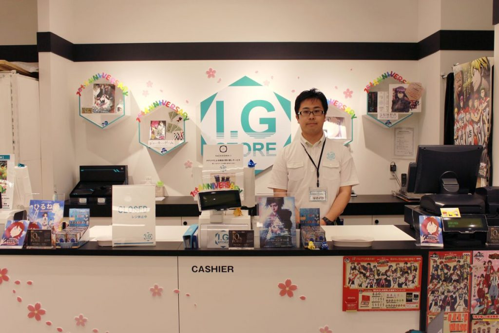 Production I.G official anime store, I.G STORE | Shop Manager Hasegawa