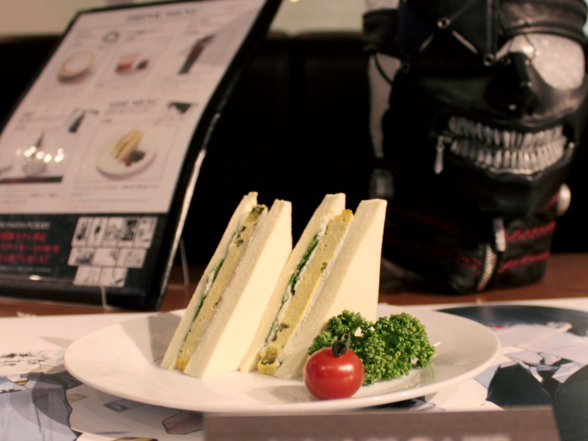 Disgusting Sandwich | The Guest cafe&diner at Ikebukuro Parco collaboration café with the popular anime and manga series Tokyo Ghoul.