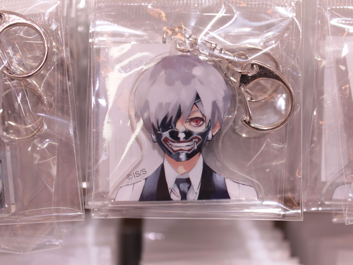 Official Ken Kaneki from Tokyo Ghoul Key Chain | The Guest cafe&diner at Ikebukuro Parco collaboration café with the popular anime and manga series Tokyo Ghoul.