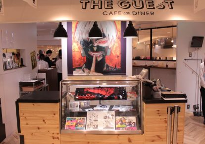 The Guest cafe&diner at Ikebukuro Parco collaboration café with the popular anime and manga series Tokyo Ghoul.