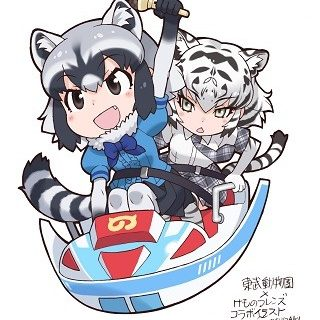 Raccoon and White Tiger Visuals Drawn by Mine Yoshizaki for Tobu Zoo