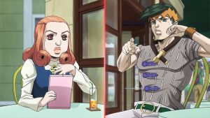 Still from anime Jojo's Bizarre Adventure side story Thus Spoke Rohan Kishibe