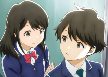 Screenshot from anime Tsuki ga Kirei