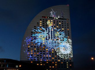 Final Fantasy Celebrates 30 Years With Masterpiece Projection Mapping in Yokohama
