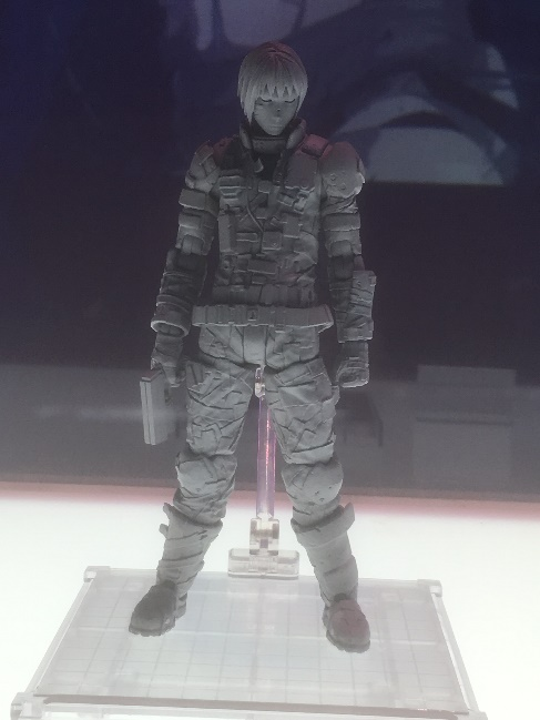 Killy's Character Figure Displayed at the Blame! Exhibition