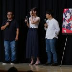 Love and Lies Pre-Screening Event. From the left: producer Takamasa Takeuchi, Musawo, chief editor Kenichiro Shinohara.