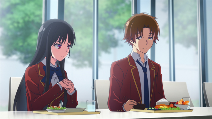 Classroom of the Elite Episode 2 Official Anime Screenshot