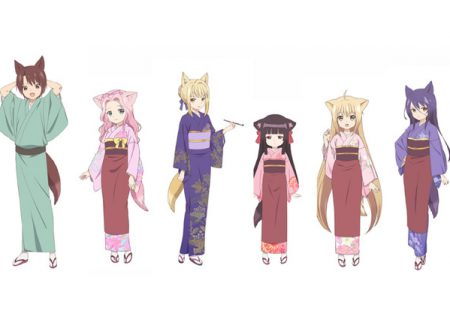 The six nakai of The anime adaptation of Sakuya Amano's Konohana Kitan