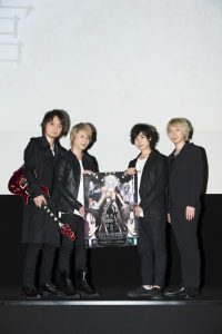 Nobuhiko Okamoto (voice of Kou Joseph Hiraga) and Junichi Suwabe (voice of Robert Nicholas) and Screen Mode at the pre-screening of Summer 2017 anime Vatican Miracle Examiner