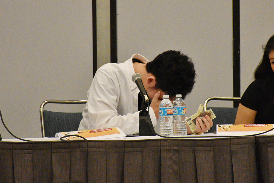 Shokugeki no Soma stage event at Anime Expo 2017 with Yuto Tsukuda, the author of the manga , and Tomohiro Ueno, as guests.
