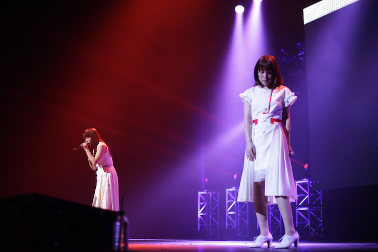 JUNNA and Minori Suzuki from Walküre perform at Japan Kawaii Live of Anisong World Matsuri (Anime Expo 2017)