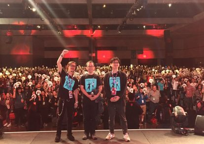 from the world premiere event of ballroom dance animeWelcome to the Ballroom (Ballroom e Youkoso) at Anime Expo 2017.