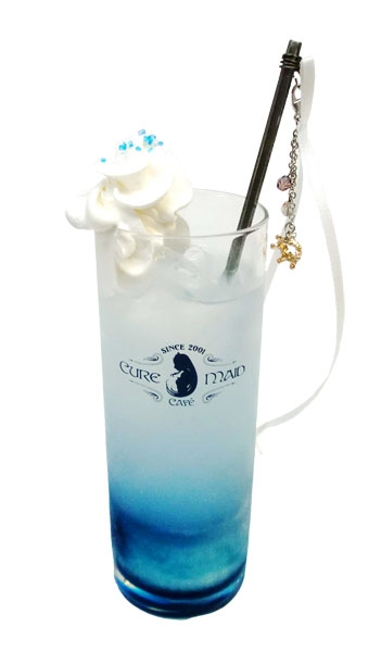 Drink from the No Game No Life Zero collaboration menu with Cure Maid Cafe
