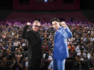 Director, Takashi Miike, and the lead actor, Kento Yamazaki. | Jojo's Bizarre Adventure: Diamond Is Unbreakable