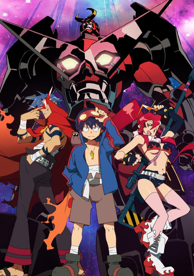 Gurren Lagann anime key visual