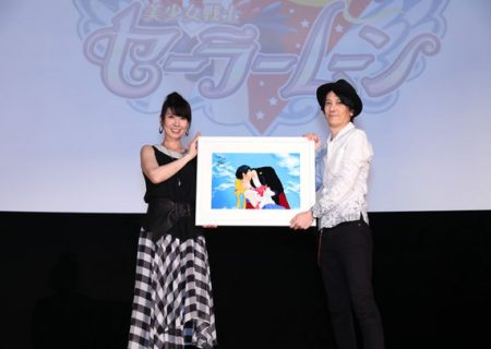 Kotono Mitsuishi and Director Kunihiko Ikuhara at the 25th Anniversary Usagi BIRTHDAY Event