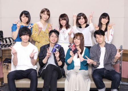 The cast of anime Karada Sagashi.