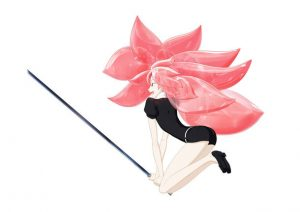 Key visual of Morganite from Anime Houseki no Kuni