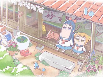 Popuko and Pipimi Relax at the Porch for Pop Team Epic Anime Key Visual