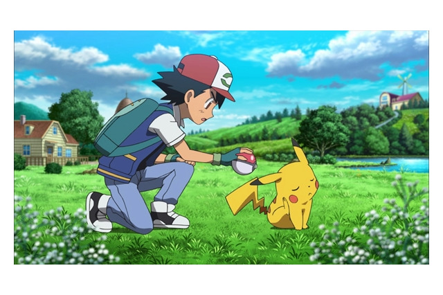 Ash and Pikachu in the new Pokemon movie