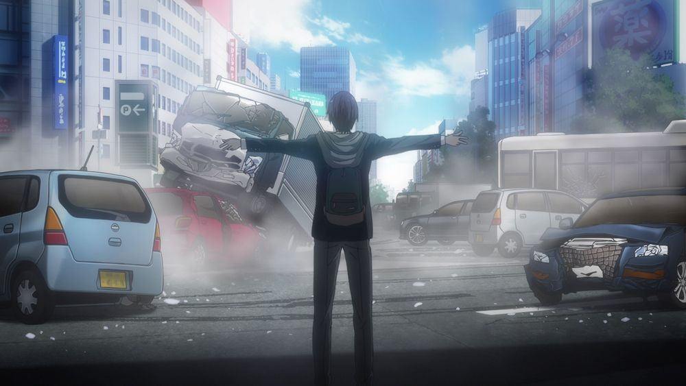 Still from the trailer of Fall 2017 anime Inuyashiki